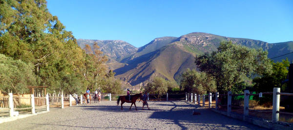 Our Horse Riding Arena with the best views in Spain