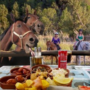 Ride and eat through mountains of Spain